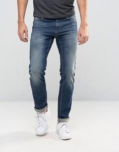 Узкие выбеленные джинсы Sisley - Синий