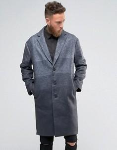 Пальто с градиентной отделкой Rogues of London - Серый