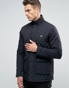 Черная стеганая куртка Lyle & Scott - Черный