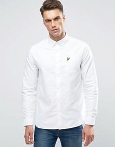 Белая оксфордская рубашка классического кроя на пуговицах Lyle & Scott - Белый
