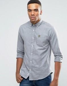 Серая фланелевая рубашка классического кроя Lyle & Scott - Серый