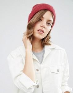 Пушистая шапка-бини ASOS - Красный
