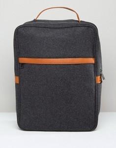 Темно-серый строгий рюкзак из мельтона ASOS - Серый
