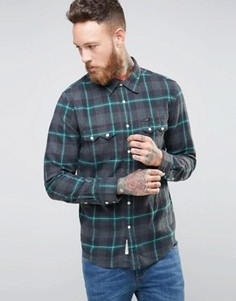 Фланелевая зеленая рубашка в клетку Lee Rider - Зеленый