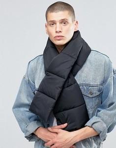 Черный стеганый шарф ASOS - Черный