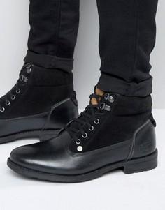 Черные кожаные ботинки на шнуровке Original Penguin - Черный