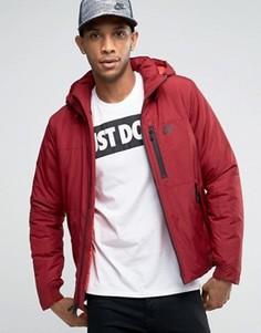 Красная утепленная куртка с капюшоном Nike 810856-677 - Синий