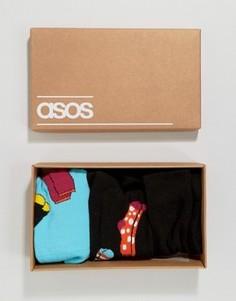 Подарочный набор из 3 пар носков ASOS - Мульти