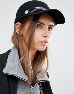 Структурированная кепка с клетчатой отделкой Calvin Klein - Черный