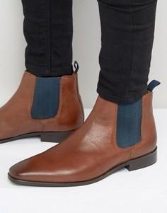 Кожаные ботинки челси KG Kurt Geiger Baxter - Рыжий