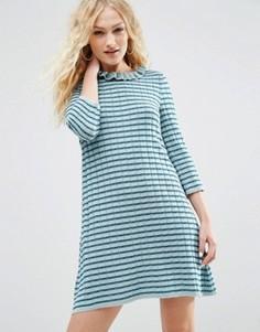 Свободное вязаное платье с полосками металлик ASOS - Мульти