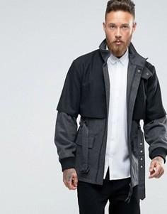 Пальто с дополнительным верхним слоем Rogues of London - Серый