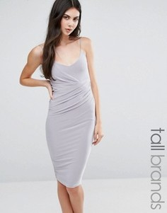 Платье миди на бретельках Missguided Tall - Серебряный