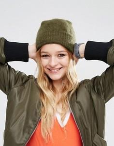 Пушистая шапка‑бини ASOS - Зеленый