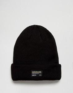 Черная шапка‑бини Nike FC 845138-010 - Черный