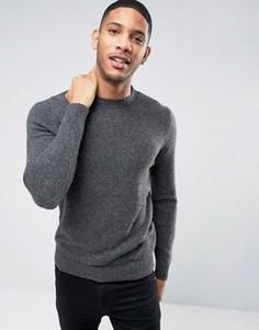 Джемпер с круглым вырезом Selected Homme PLUS - Серый