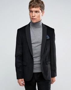Комбинируемый черный пиджак узкого кроя ASOS - Черный
