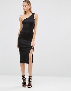 Асимметричное платье миди AX Paris - Черный