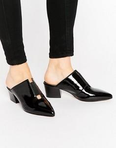 Кожаные сандалии с острым носком ASOS SWEETNESS - Черный