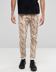 Облегающие джинсы с камуфляжным принтом ASOS - Stone