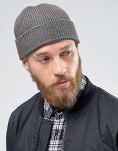 Серая рыбацкая шапка‑бини ASOS - Серый