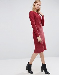 Трикотажное платье с длинными рукавами Love & Other Things - Красный