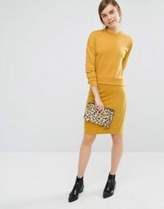 Трикотажная юбка‑карандаш Vero Moda - Желтый
