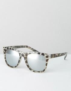 Солнцезащитные очки с зеркальными стеклами Cheap Monday - Коричневый