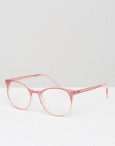 Розовые круглые очки с прозрачными стеклами ASOS - Розовый