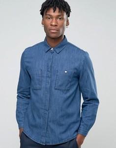 Синяя рубашка с карманом на груди Bethnals Steve - Темно-синий