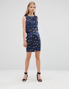Облегающая юбка с леопардовым принтом Madame Rage - Синий