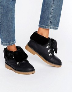 Ботинки на искусственной меховой подкладке Blink - Черный