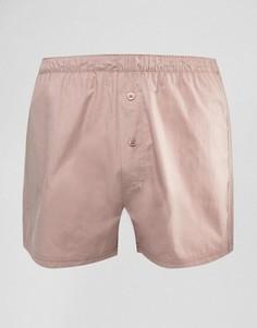 Розовые тканые боксеры ASOS - Красный