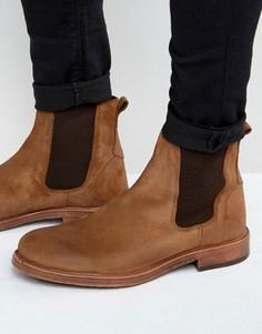 Кожаные коричневые ботинки челси ASOS - Рыжий