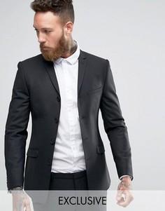 Супероблегающий пиджак Heart & Dagger High Break - Черный