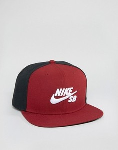 Красная бейсболка Nike SB Icon Pro 628683-678 - Красный