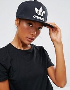 Бейсболка с логотипом-трилистником Adidas Originals - Черный
