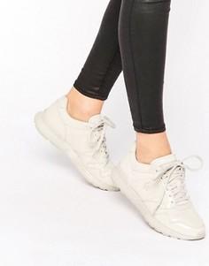 Светло-бежевые лакированные кроссовки Le Coq Sportif Omega - Серый