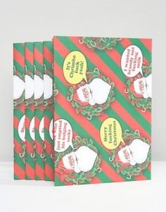 Бумага для упаковки подарков Brainbox, 5 листов - Мульти Gifts