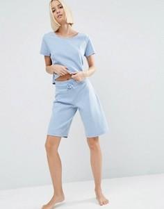 Пляжные шорты в рубчик ASOS LOUNGE - Синий