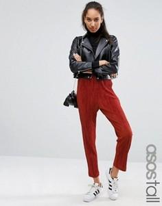 Плиссированные брюки-галифе ASOS TALL - Оранжевый