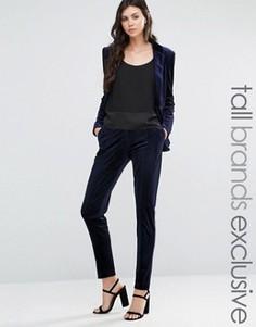 Вельветовые брюки Fashion Union Tall - Темно-синий