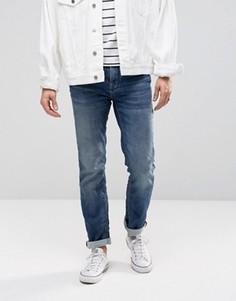 Выбеленные суперэластичные джинсы скинни Selected Homme - Синий