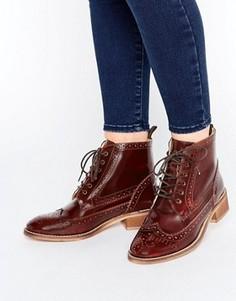 Кожаные броги на шнуровке ASOS ARTISTRY - Коричневый