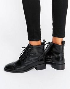 Кожаные броги на шнуровке ASOS ARTISTRY - Черный