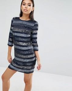 Платье мини с пайетками ASOS - Синий