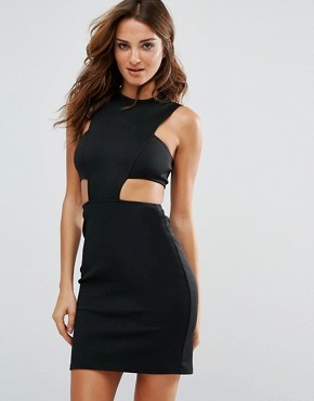 Облегающее платье с вырезом на талии Twin Sister - Черный