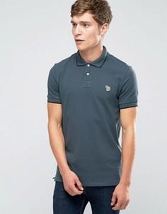 Серая футболка-поло слим с логотипом Paul Smith - Серый