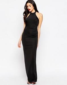 Платье макси с боковым разрезом Sistaglam Hayden - Черный