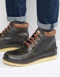 Черные кожаные ботинки Original Penguin - Черный